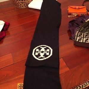 Double Sided Tory Burch Logo Scarf